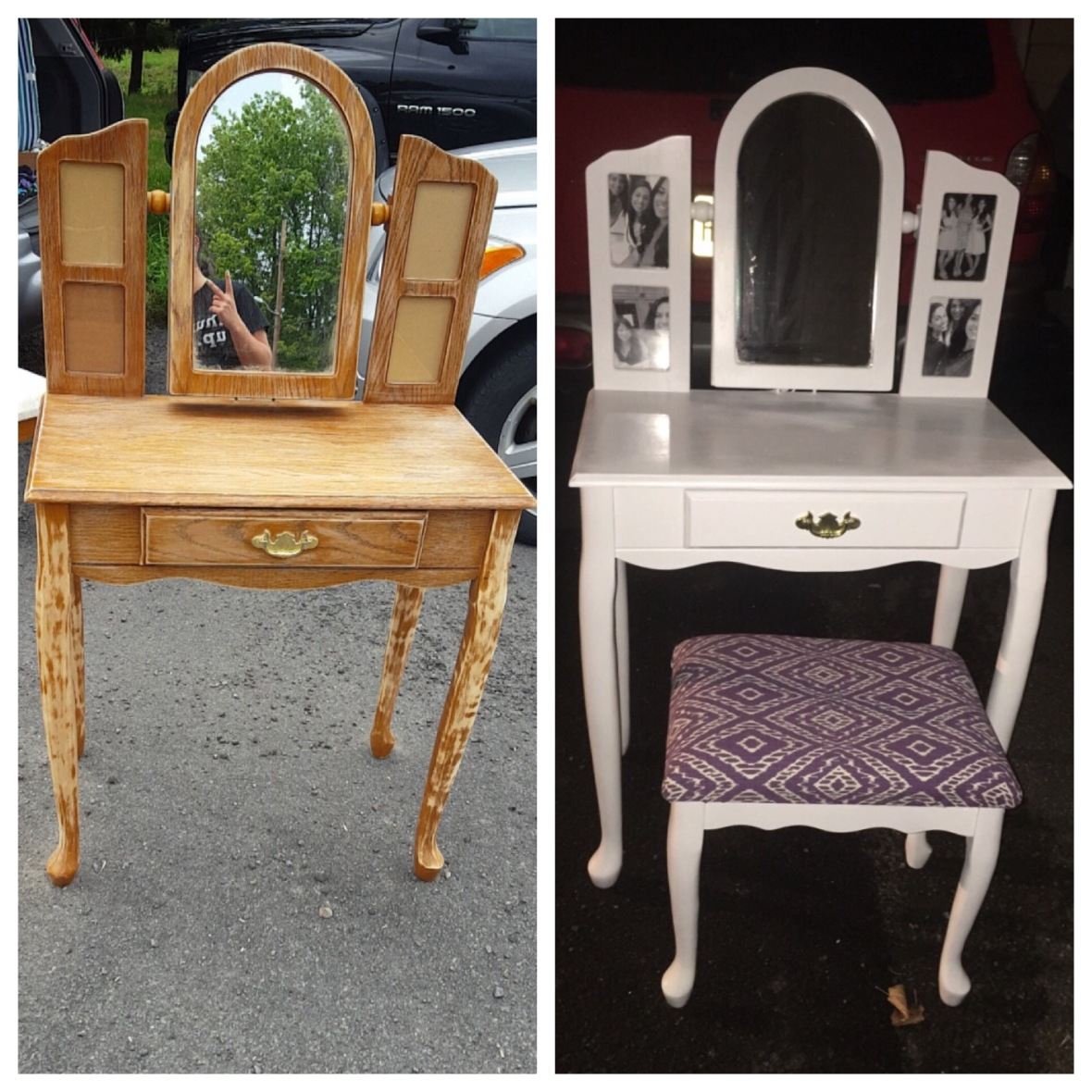 Vanity before and after