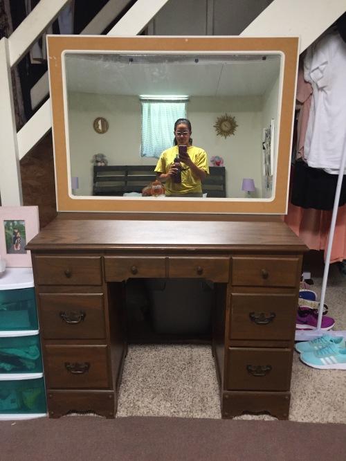 Vanity desk and mirror before.JPG