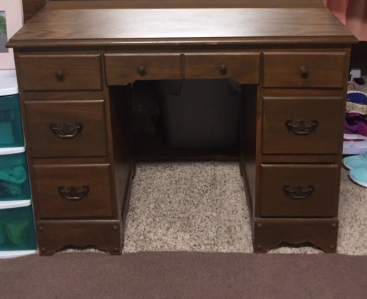 vanity desk before