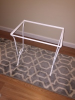 wrought iron table after
