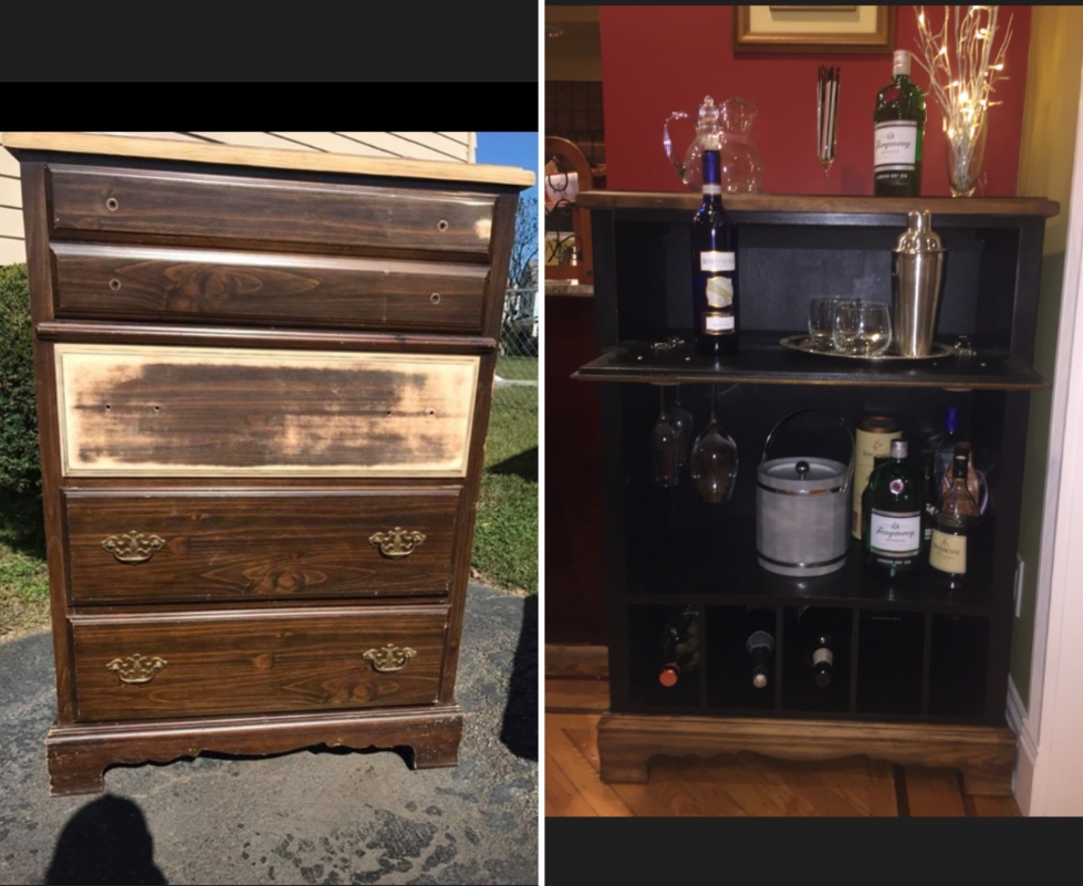 Before and After Dresser Bar