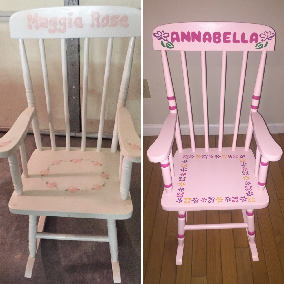 Before and after of rocking chair 3