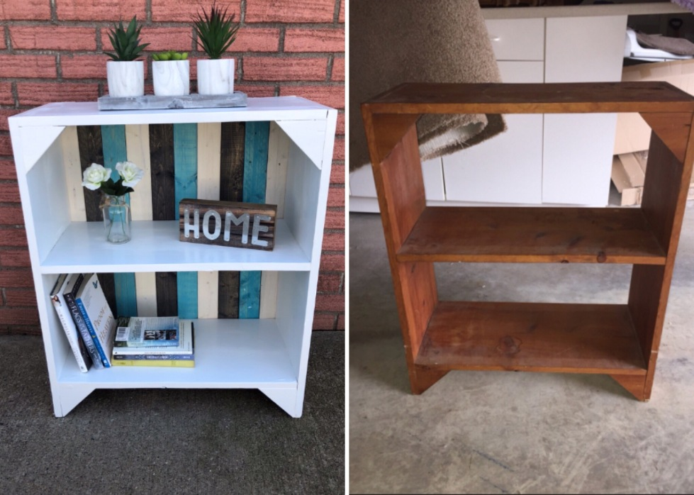 before and after bookshelf
