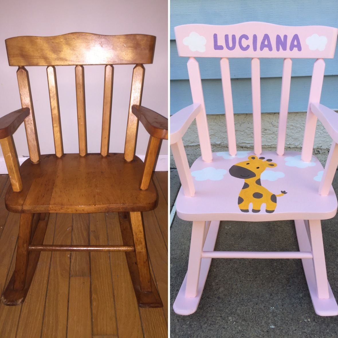 before and after rocking chair
