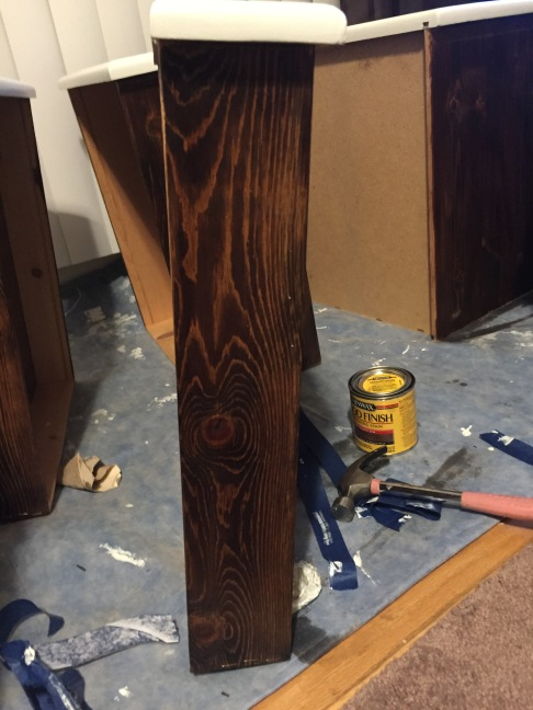 drawers stained 2