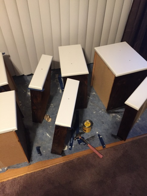 drawers stained