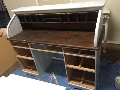 roll top desk in progress