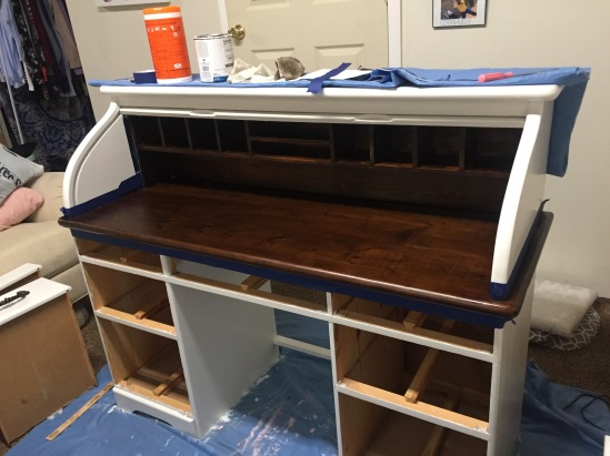 roll top desk stained