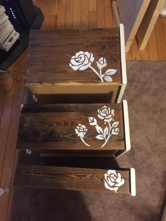 roses stenciled
