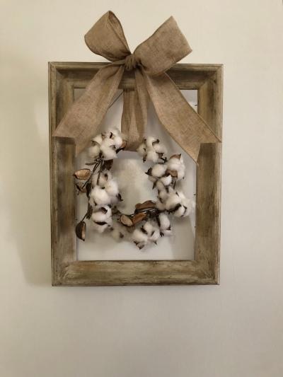 antique fram with cotton