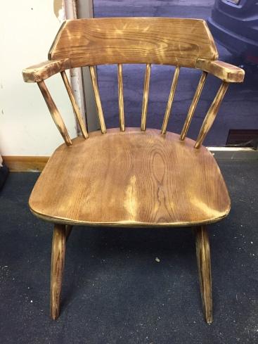 captain chair sanded