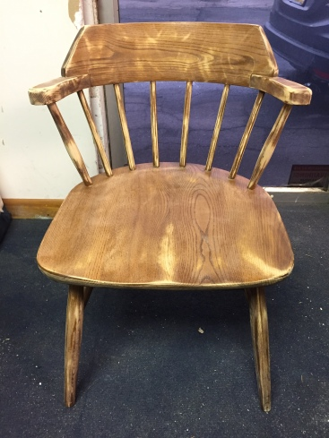 captain chair sanded