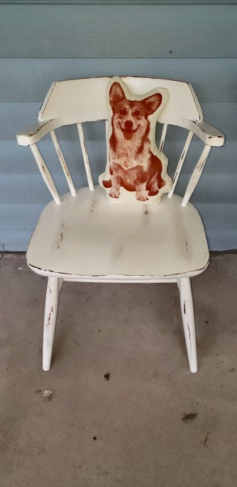 distressed chair
