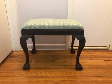 bench reupholstered