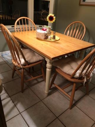 Farmhouse table in house
