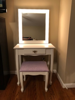 finished vanity