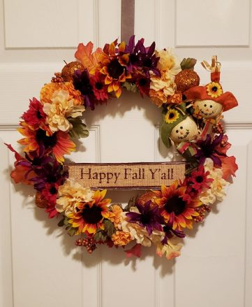 happy fall yall wreath