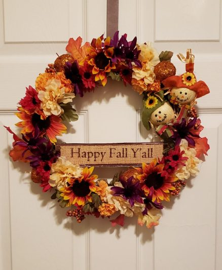 happy fall yall wreath