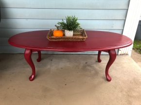 red coffee table 4