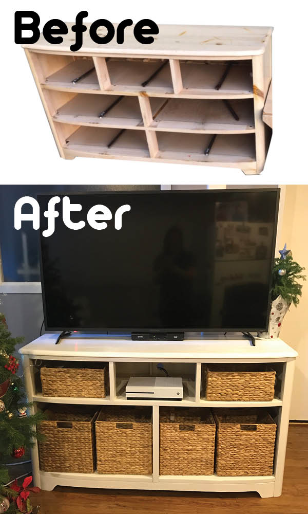 Dresser TV Stand before and after_Pinterest