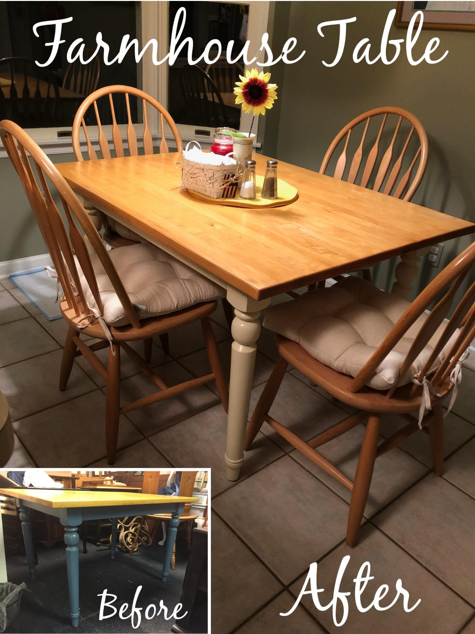 Farmhoue table before and after_Pinterest