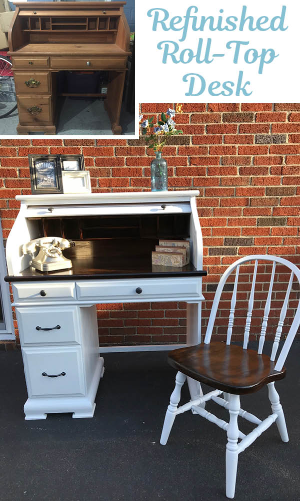 Roll top desk before and after_Pinterest