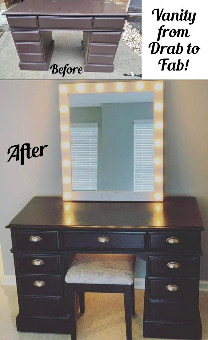 black vanity before and after_Pinterest