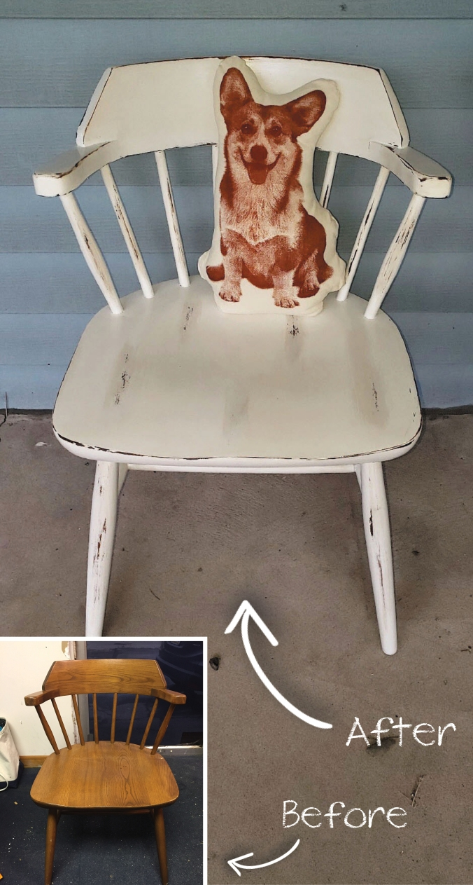 distressed chairbefore and after_Pinterest