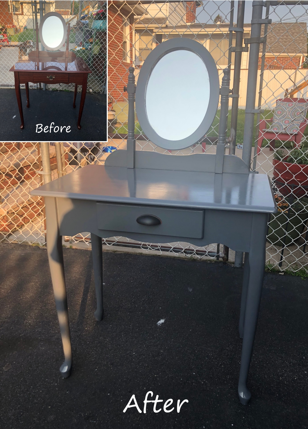 grey vanity before and after_Pinterest