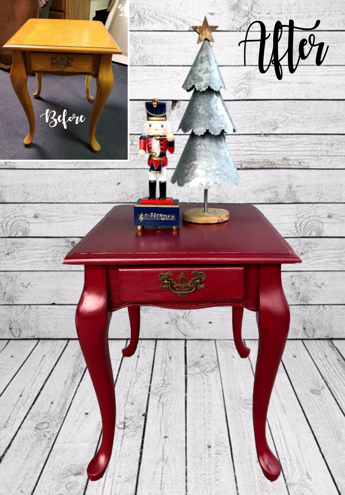 red table before and after_Pinterest