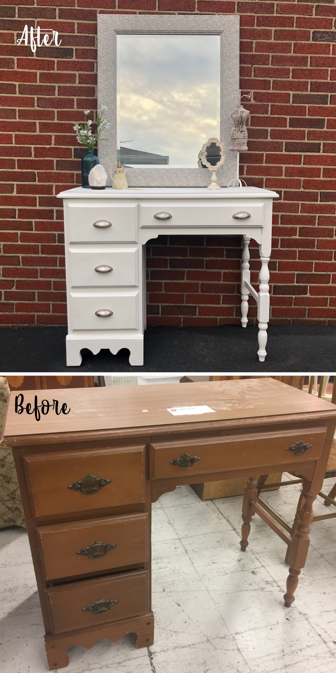 white desk before and after_Pinterest