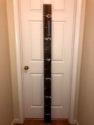 wooden height chart 3