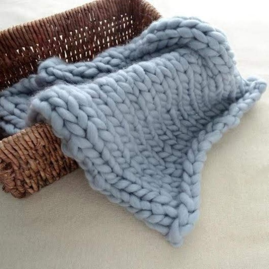dusty blue blanket