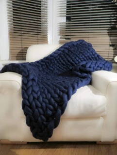 navy blue blanket