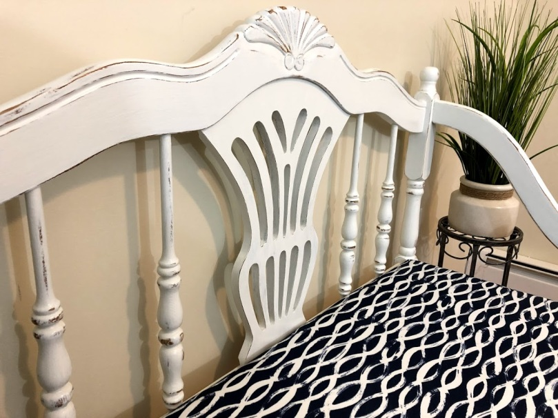 White Distressed Bench 3