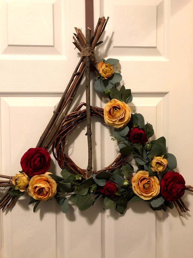 deathly hallows wreath