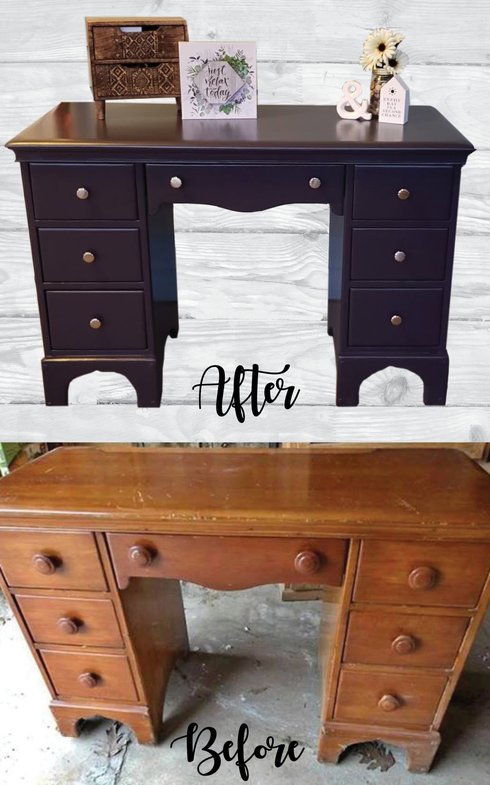 Purple Desk before and after_Pinterest